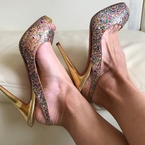 Christian Louboutin sparkle Slings Sandals